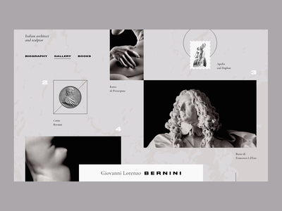 Giovanni Lorenzo Bernini clean concept black architecture adobexd web
