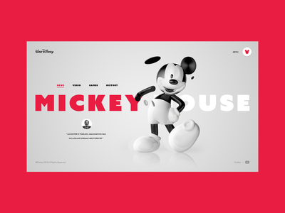 Mickey mouse 3d adobexd black clean web