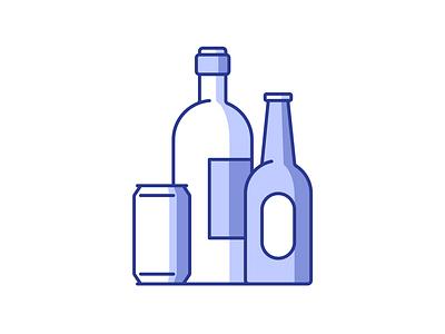 Grocery 041/100 drink shadow vector illustration design icon minimal