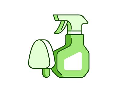 Hygiene 041/100 cleaner brush illustration vector design shadow icon minimal
