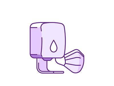 Hygiene 043/100 masks sanitizer hygiene design vector illustration shadow icon minimal