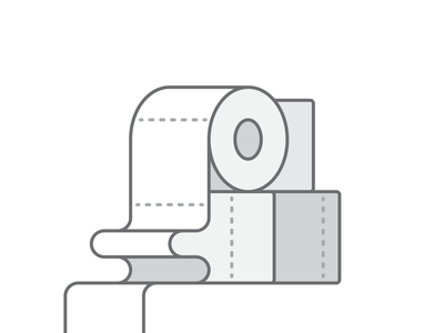 Grocery 046/100 toilet paper grocery dailyicon vector illustration design shadow icon minimal