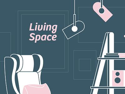 #LIVINGSPACE livingspace design vector illustration