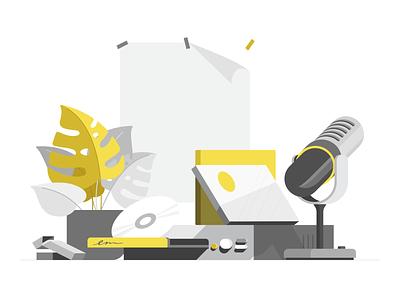 Mood music vector pantone2021 dailyui illustration
