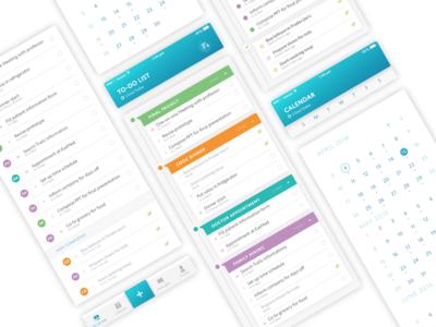 To-Do App priority tab bar check glyphs sort categorize calendar planner list todo