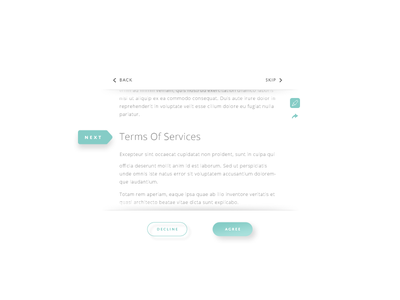 Day089 Terms of Service box chevron button share mark scroll terms of service 089 dailyui