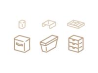 Muji style icons