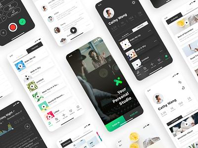vox Personal Studio App mockup prototype ux ui ios mobile vox