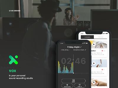 vox IS HERE app audio player voice note studio record sound ios mobile ux ui vox