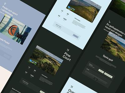 Barsebäck website ui design website design web design webdesign website sport padel golf club golf icon typography logo ux booking icons branding ui design