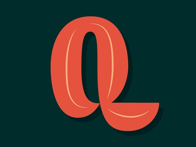 17. Q vector inline lettering contrast 36daysoftype05 36daysoftype 36days-q 36days
