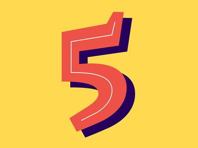 32. 5 vector serif lettering sans inline shadow 36daysoftype05 36daysoftype 36days-5 36days