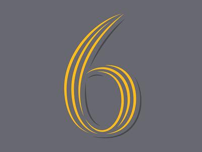 33. 6 vector shadow contrast serif sans lettering stripe inline 36daysoftype05 36daysoftype 36days-6 36days