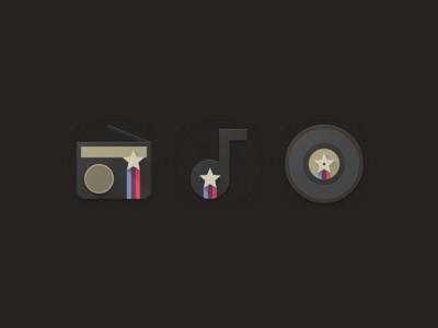 Disco Star Mini Icon Set