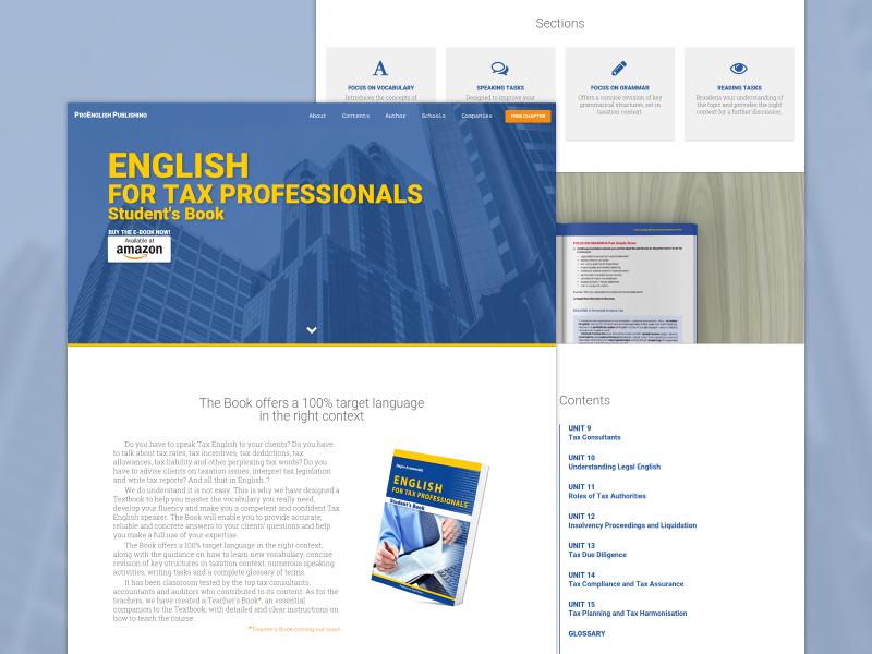TaxProEnglish Landing Page landing page book web programming web design material design