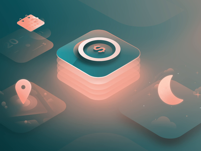 Agendrix — Premiums calendar pin night symbol isometric affinity designer vector animation motion design motion illustration application icon icons peachy greenery design colors application design application agendrix