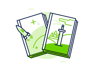 Library - fantasy and science fiction icon