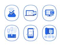 Telecommunication -  icons