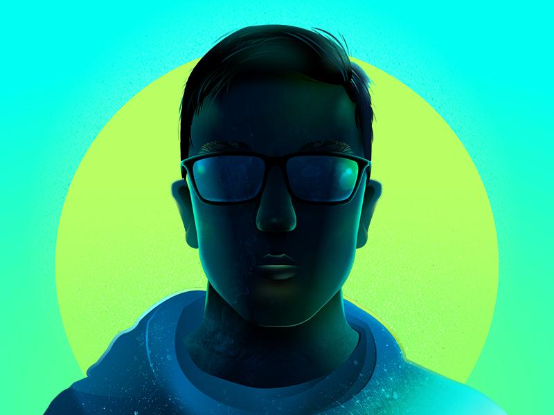 Self-Portrait affinity designer vector face illustration man self-portrait myself portrait