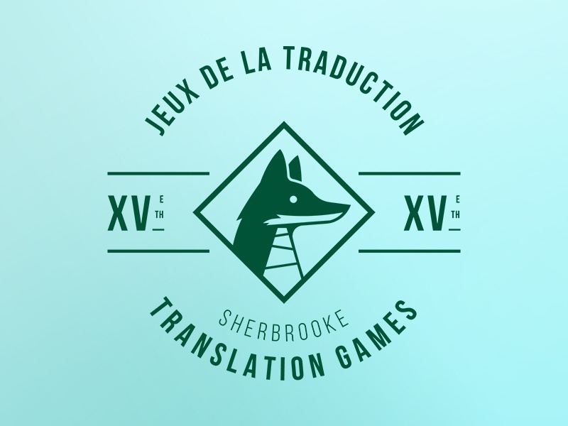 jeux de la traduction - translation games green fox logo seal babel fox badge