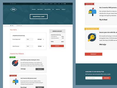 Shopping Cart for Web Hosting Company domain webhosting icon ui flat grid ecommerce shoppingcart