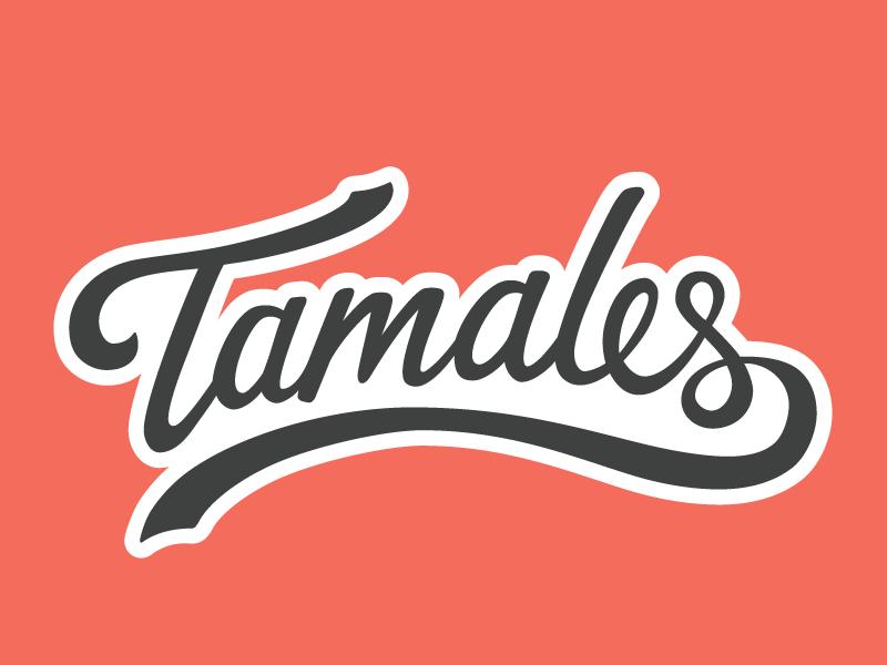 Thanksgiving Tamales!! food vector hand lettering tamales script sticker lettering sticker mule