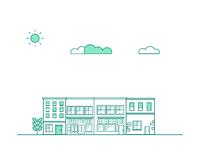 Buildings illustration  x3