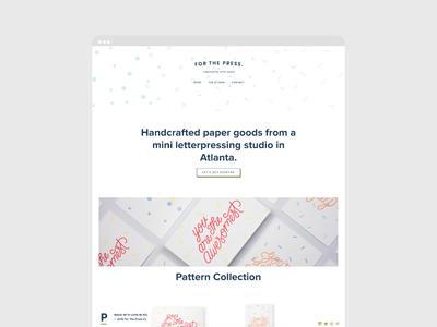 For The Press Site Design