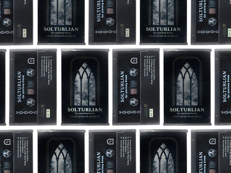 Solturlian Cassette visual design design branding photoshop illustration music dungeon synth cassette