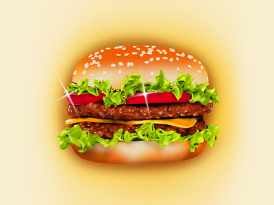 Fries with that? retro design retrowave visualdesign photoshop 80s 70s airbrush retroart illustration food hamburger