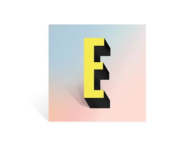 E typeface typography
