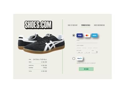 DailyUI 002 shoes 002 checkout credit card dailyui