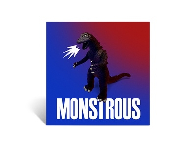 Monstrous photoshop color summer godzilla monster