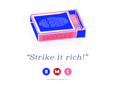 BMC, Inc illustration mid-century modern advertisement vintage matches matchbox