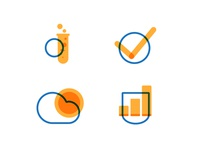 Blue/Yellow Custom Icons