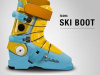 Ski boot icon