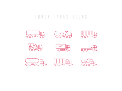 Truck Types Icon set