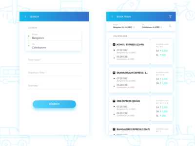 Train Ticket Booking | UI UX
