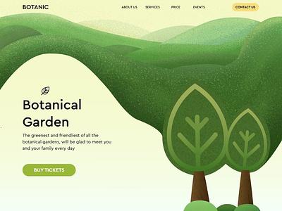 Website for the central botanical garden icon branding app graphic design ui ux typography vector logo illustration design