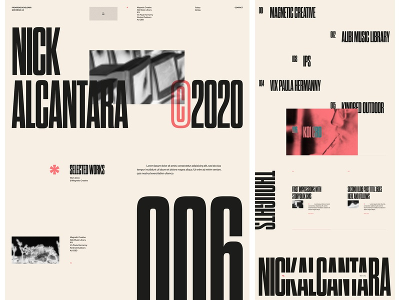 N.ALCANTARA_v20 portfolio developer fragment rat salmon editorial outside the box exploration black and white ui ux design layout web design exploded grid typography grid