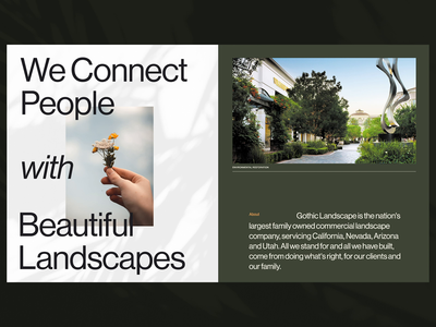 The Family You Trust. landscape landscaping plants nature exploration outside the box branding dark ui ux design layout web design exploded grid typography grid