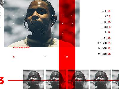 IA - LA ui ux web design damn kendrick lamar red clean grid music serif sit down outside the box kung fu kenny