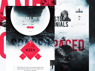 S P A C E D red white dark space nike benjamin hardman exploded grid contrast ui ux web design design spacedchallenge