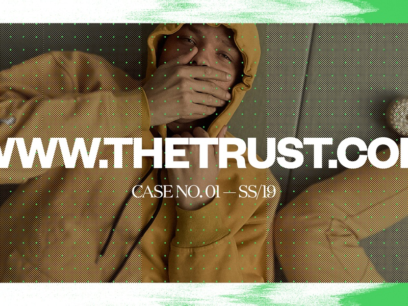 The Trust — EXP NO 2 dots green agency fashion editorial exploration art direction the trust wall street journal exploded grid grid design grid layout typography grid