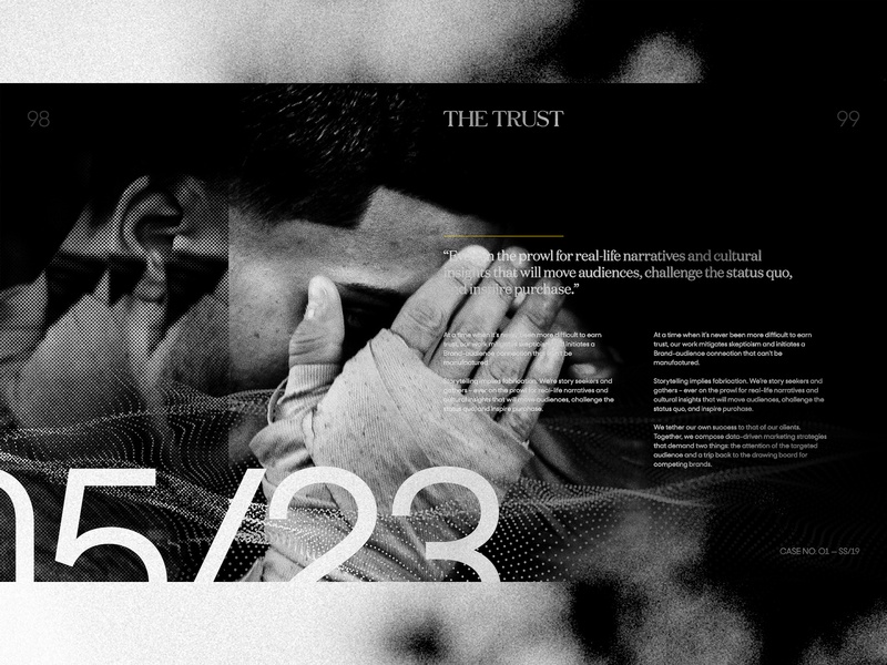 The Trust — EXP NO 3 black and white data editorial layout typography layout grid exploded grid the wall street journal the turst art direction exploration editorial fashion