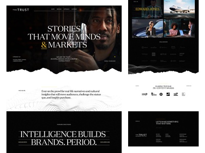 The Trust — HP the wall street journal the trust editorial yellow black and white art direction dark branding ui ux design exploded grid layout web design typography grid