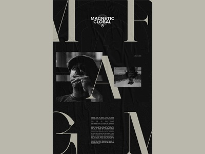 MAGFAM magfam branding dark typography poster layout true north topography black and white design exploded grid typography grid