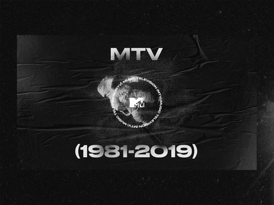 MTV noise black and white exploration grunge poster mtv dark ui ux exploded grid layout web design typography grid