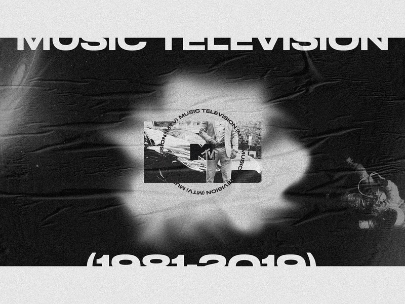 Music Television (1981—2019) astronaut planet space webdesign ui ux typography poster noise mtv layout grunge grid exploration exploded grid dark black and white