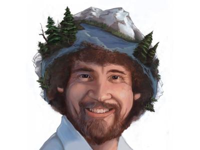 Bob Ross Portrait